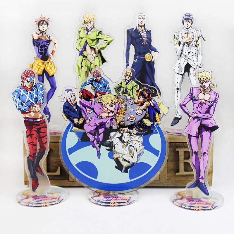 Anime Jojo Bizarre Adventure Display Stand Figure Model Plate Holder Japanese Cartoon Figure Acrylic Jewelry Christmas Gift