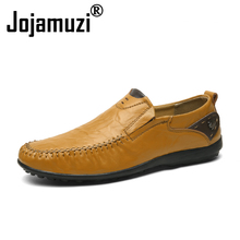 2019 Summer Fashion Patchwork Handmade Moccasins Genuine leather Luxury Loafers Men Casual Shoes Boat Slip On Driving Size 38 47