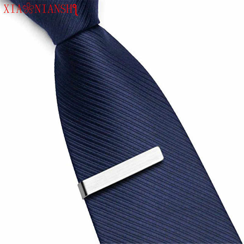 XIAONIANSHI Stainless Steel Tie Pin Fashionable Design 3 color Tie Clip for Men  Commercial Necktie Clips Pin Accessories Gift