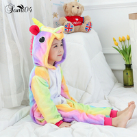 Cartoon Animal Children S Conjoined Pajamas 2018 Winter Kids Warm Flannel Cute Siamese Nightgown Dinosaurs Pegasus