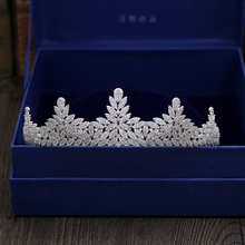 Fashion luxurious crystal flowers CZ zircon Princess crown wedding bride dinner banquet Beauty tiaras jewelry free shipping