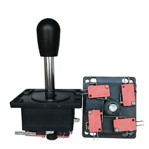 DIY black red Spanish style arcade game joystick fighting stick parts with microswitch for coin operated gaming machines