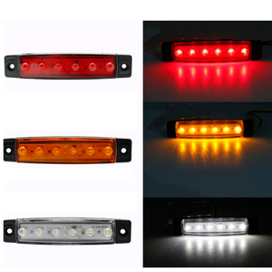 Image 5 - 10 PCS AOHEWEI 24 V  LED white front side marker light indicator position lamp with reflector for trailer truck lorry RV