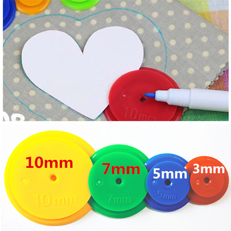 Patchwork Equidistant Ruler Seam Parts Parallel Wheel Cloth Diy Scanning Line Ring Round Seam Parts Tailor Sewing Scribing Tool