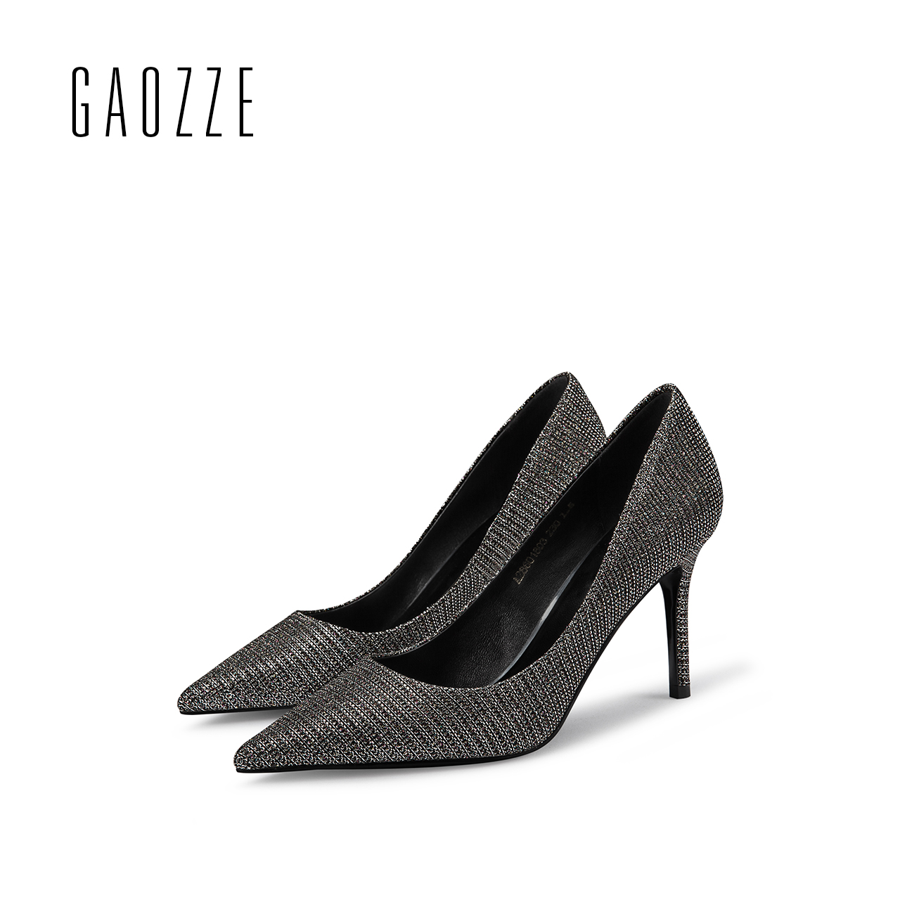 GAOZZE Striped Sequin Cloth Pointed Toe Party Women Pumps Shoes Sexy High Heels Women Pumps Stiletto Heel Shoes 2018 Spring New wholesale lttl new spring summer high heels shoes stiletto heel flock pointed toe sandals fashion ankle straps women party shoes