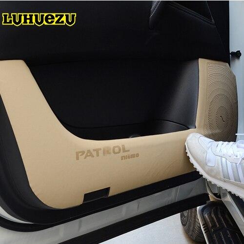4 pcs 2013-2017 Voiture Porte Anti-Sale Pad Anti Coup Mat Pour Nissan Patrol Y62 Armada Accessoires