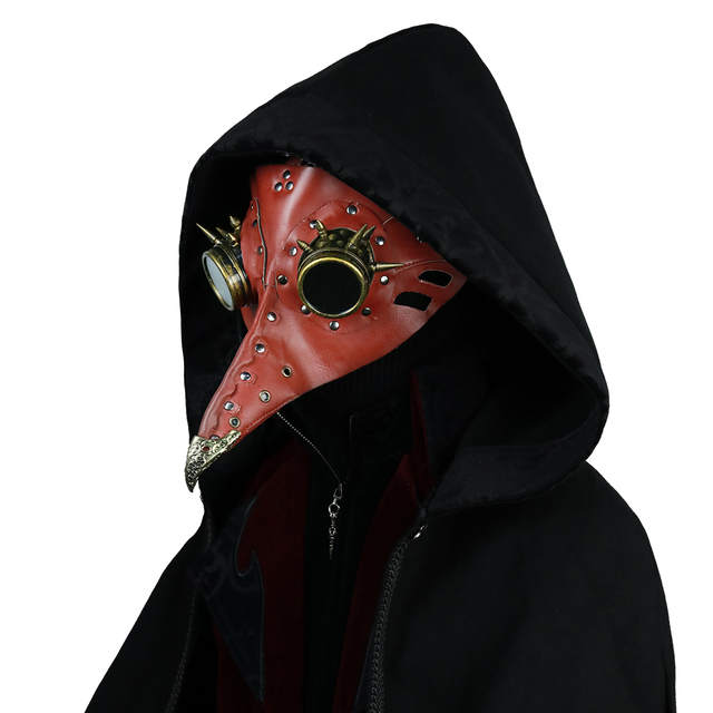 Steampunk Plague Doctor Mask Long Nose Bird Mask Cosplay Fancy Mask Exclusive Gothic Retro Rock Leather Halloween Mask 4