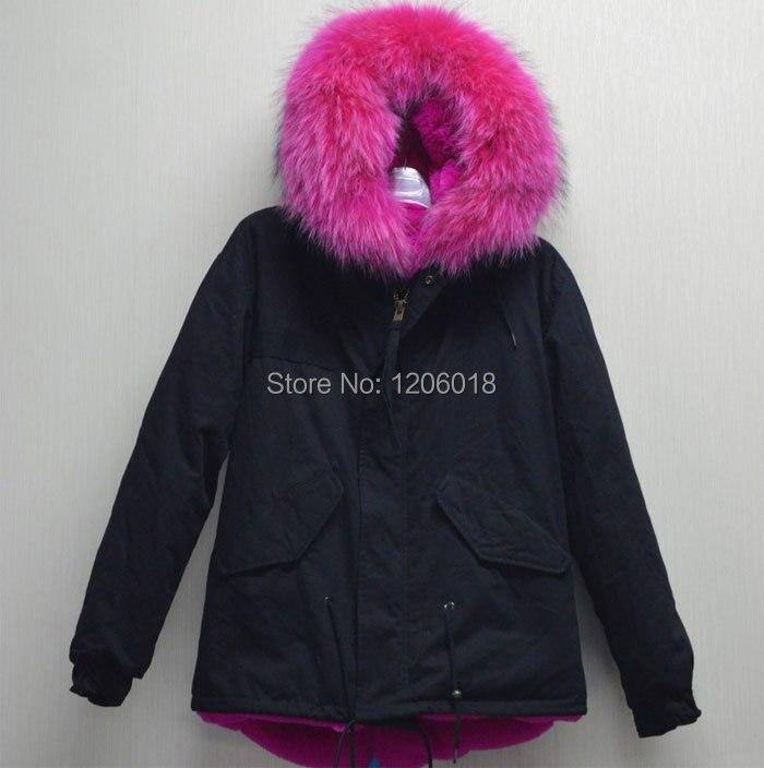 accepter combinaison prix usine de mode d 39 hiver noir veste avec rose chaud col de fourrure. Black Bedroom Furniture Sets. Home Design Ideas