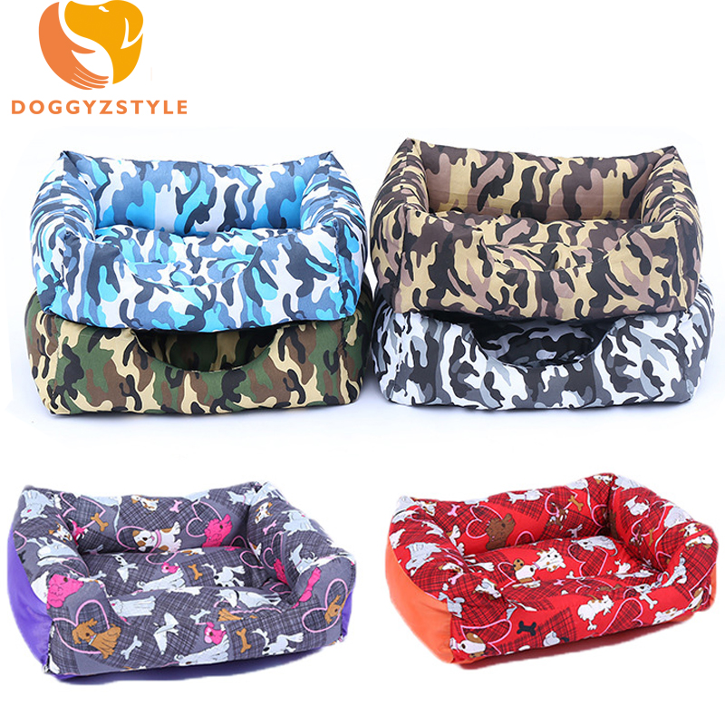 Winter Warm Pet Dog Bed Cartoon Puppy Soft House Camouflage Removable Mat For Small Dogs Teddy Chihuahua Kennel Sofa DOGGYZSTYLE ...