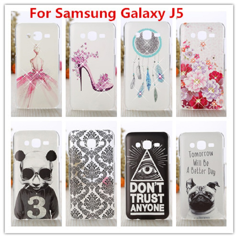 Crystal Diamond etui til Samsung Galaxy J5 2015 Bling Shine Hard Protector Cover Galaxy J5 2015 J5008 YC955 SM-J500F J500 J500F