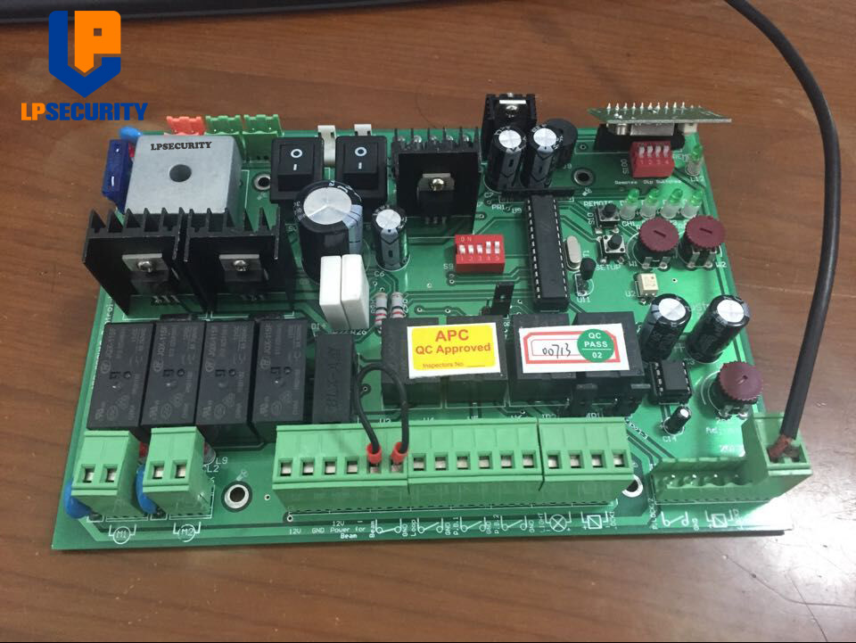 Image 2 - DC 24V automatic dual swing gate control board con 4 transmitters-in Access Control Kits from Security & Protection