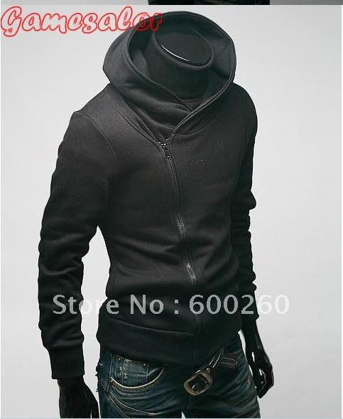 High Collar Men's Jacket Top Brand ,Sweatshirt,Dust Coat ,Hoodies Clothes,cotton