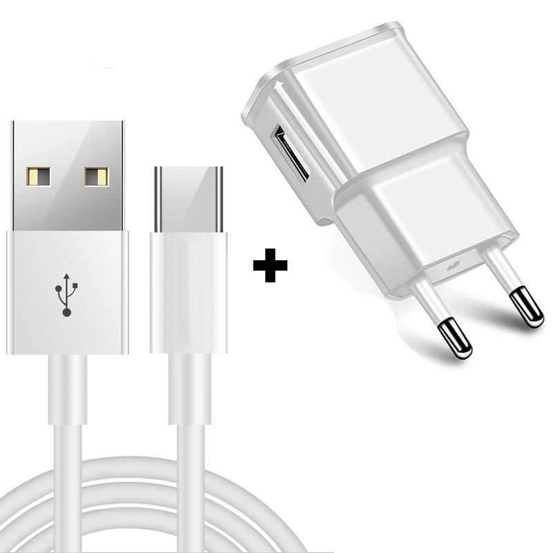 AFC Schnelle Lade Eu-stecker Ladegerät für Samsung Galaxy S9 USB Typ C Kabel Huawei Mate 20 Pro Typ- C Daten Kabel P20 Xiao mi mi 8