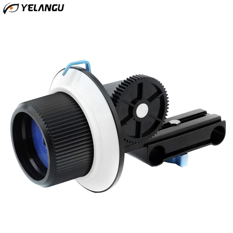 YELANGU YLG0103A F1 Follow Focus Metal Upgraded Version with Adjustable Gear Ring Belt for Canon Nikon
