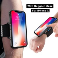 Phone Shockproof Case And Armband For IPhone X 10 Sports Wristband With Dual Layer Rugged Case