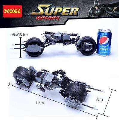 Decool venta caliente 7115 Super Heroes Batman Bat-Pod Bloque de Ladrillo Regalo Toy Boy Juego DC Motocicleta Compatible con Lepin Bela 5004590