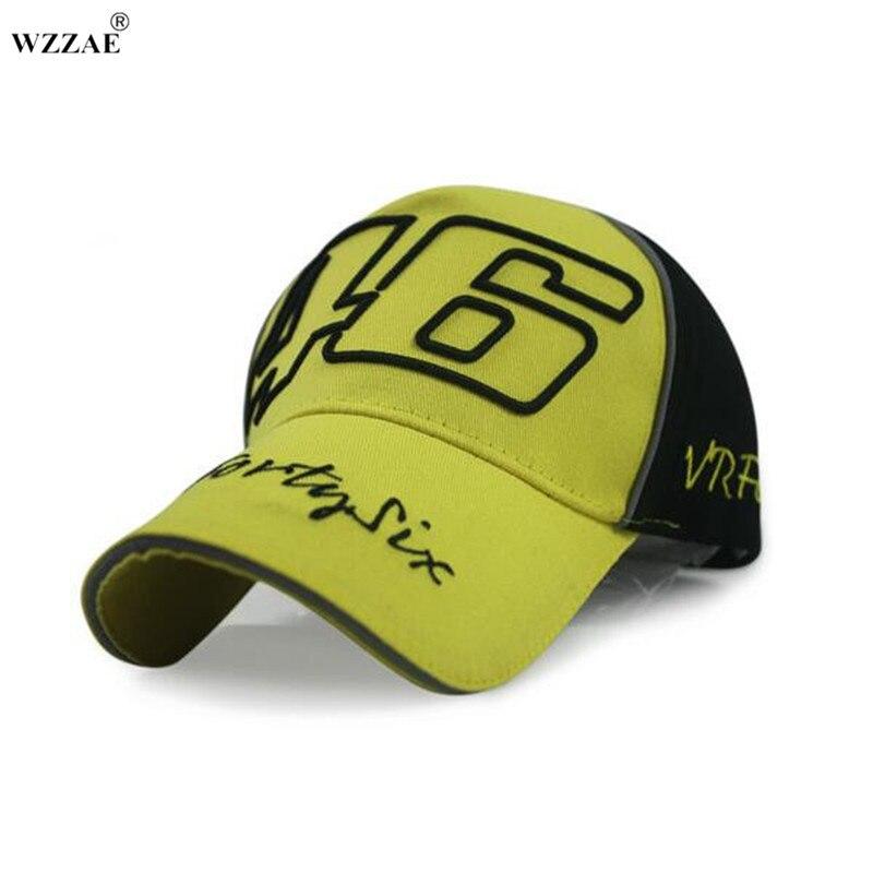 WZZAE 2018 Baru Snapback Caps Grosir Rossi 46 Bordir Topi Topi Baseball  Motor Balap Topi VR46 106387458d