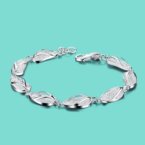 fc5384ad18e60b 925 sterling silver bracelet female models creative slippers design solid silver  bracelet 19cm women's charm bracelets best gift
