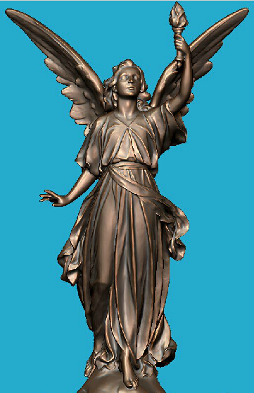 3D Model Relief Stl Format Sculpture For CNC Machine Athena Goddess
