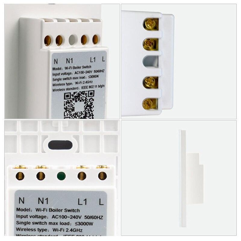 wifi inteligente aquecedor de agua interruptor de 01