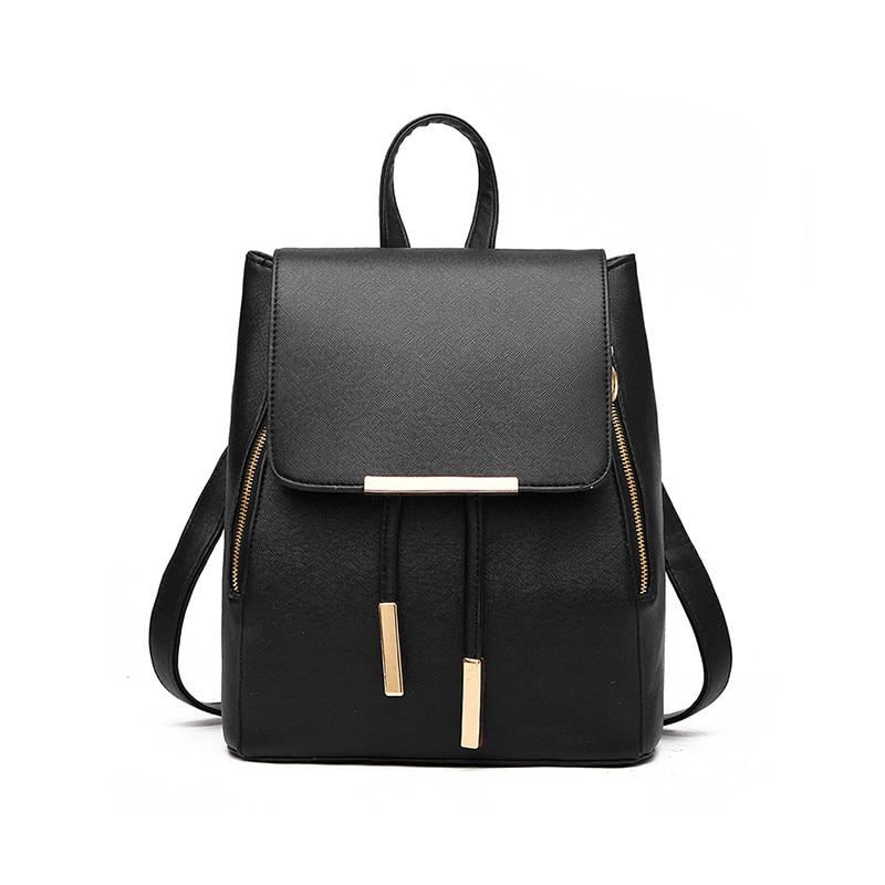 New Designer Women Backpack For Teens Girls Preppy Style School Bag PU Leather Backpack Ladies High Quality Black Rucksack цена 2016