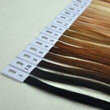 1 компл. 31 Цвет 100% Человеческих Волос Цвет Кольцо для Всех видов Волос Цвет Диаграммы Для Ленты Волос