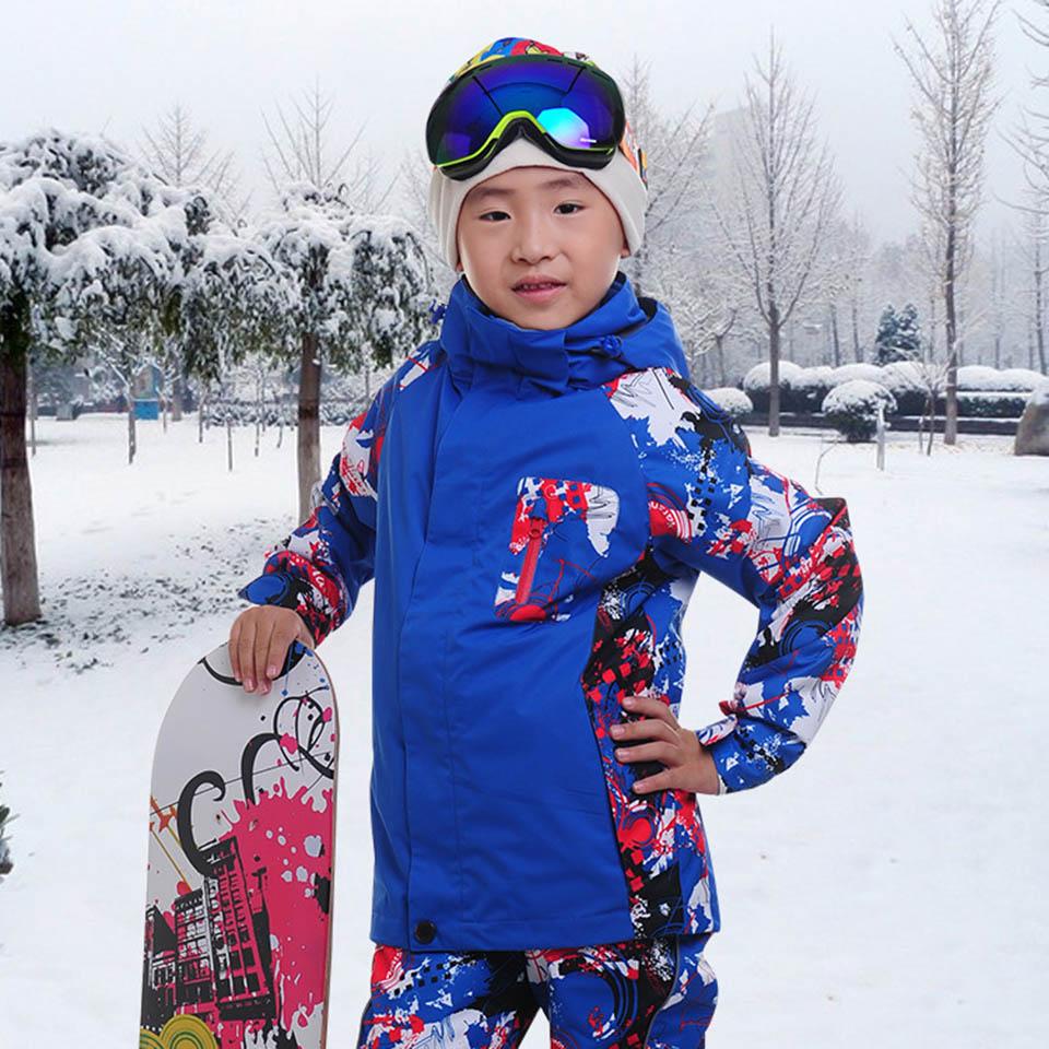 ФОТО Marsnow Girls Snowboarding Jackets Outdoor Skiing 3 in 1 Jacket Girl Warm Coat Waterproof Kids Children Boy Ski Jackets