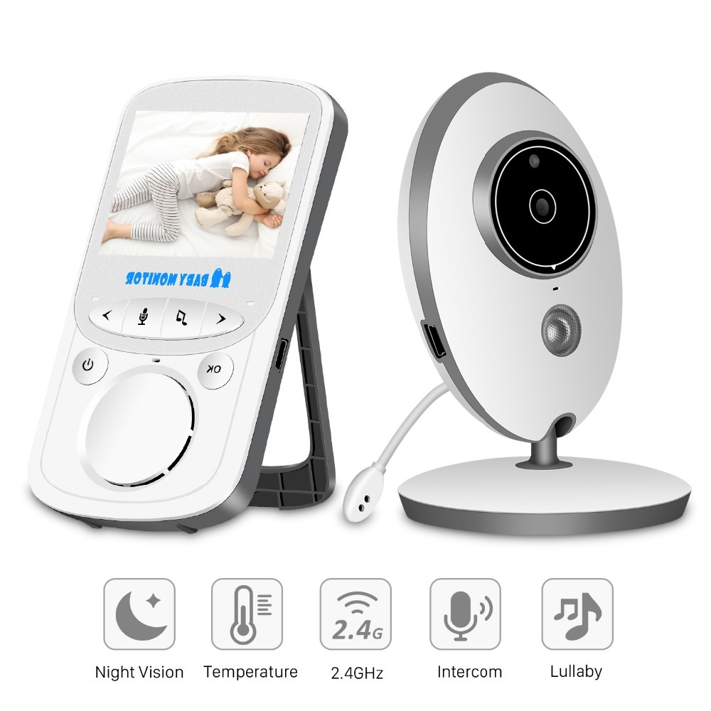 Imporx Wireless Audio Video Baby Monitor Radio Nanny Music Intercom Ir 24h Portable 2.4 Inch Lcd Baby Camera Baby Walkie Talkie Back To Search Resultssecurity & Protection