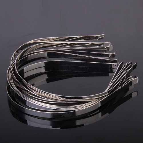 HOT 10 sztuk puste opaski metalowe do włosów zespół wiele akcesoriów DIY
