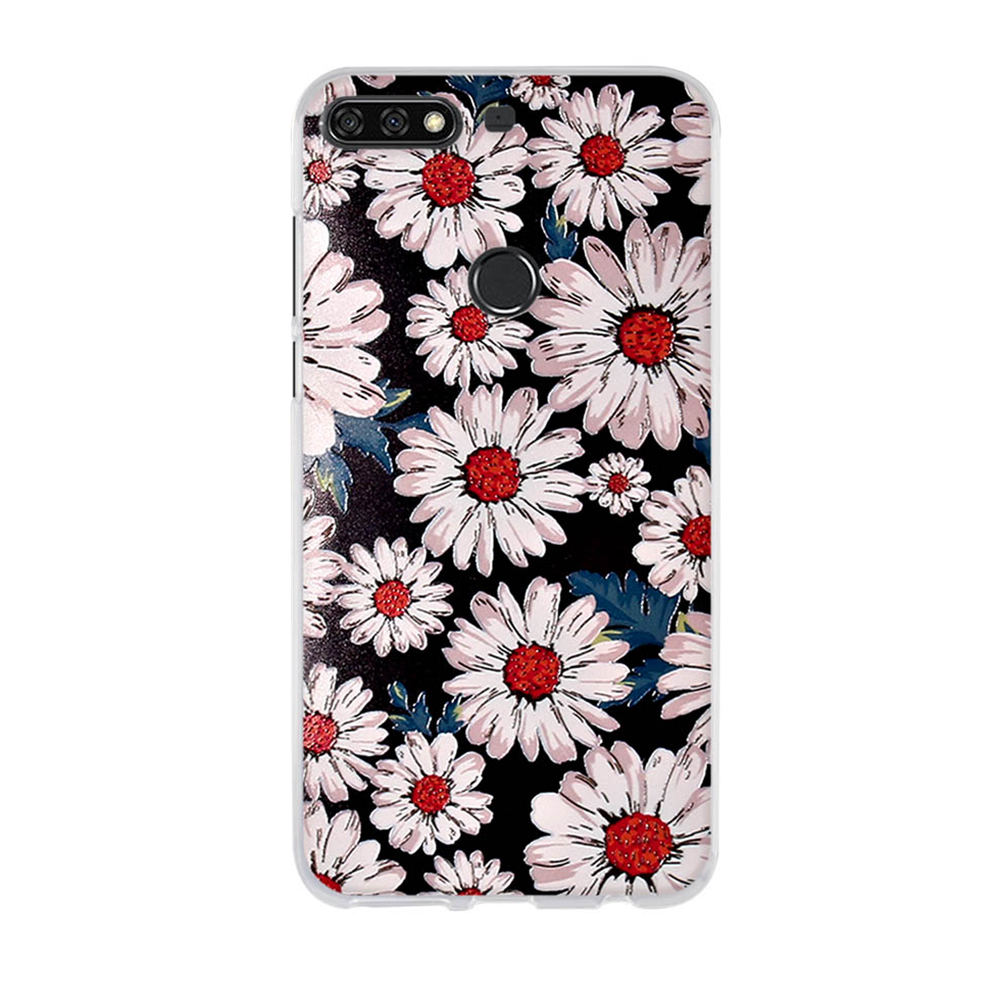 Image 3 - Silicone Case for Huawei Y7 2018 Case TPU Back Cover for Huawei Honor 7C 5.99'' Phone Covers Y7 Prime 2018 Case Y7 Pro 2018-in Fitted Cases from Cellphones & Telecommunications