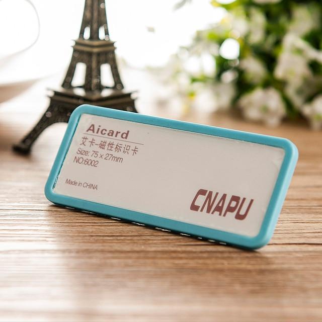 75*27mm 10 unids/lote personalizada rectángulo de plástico id badge ...