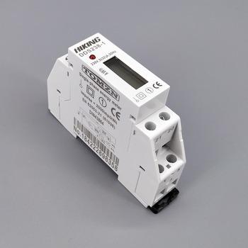5 (32) jednofazowy 230V 50HZ na szynę Din KWH watogodzinny miernik energii din LCD tanie i dobre opinie 230 v 18*87*58 5MM Elektryczne 99999 9 Cyfrowy tylko Normal Class 1 TOMZN 20A-49A DDS238-1 35mm Din Rail 5(32)A 20mA 6+1 digits for LCD display