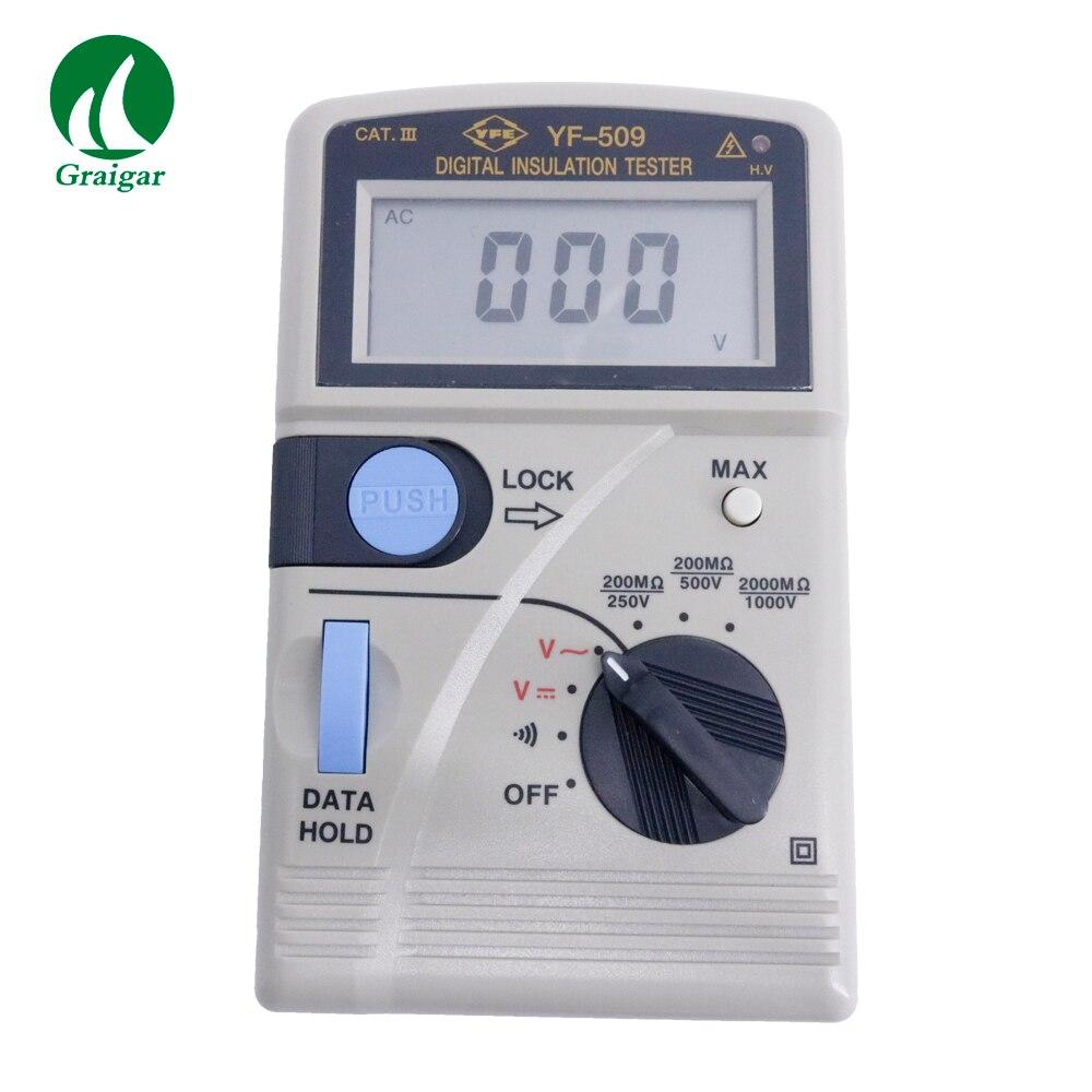 Testeur de résistance à l'isolation numérique portable YF-509 250/500/1000 V