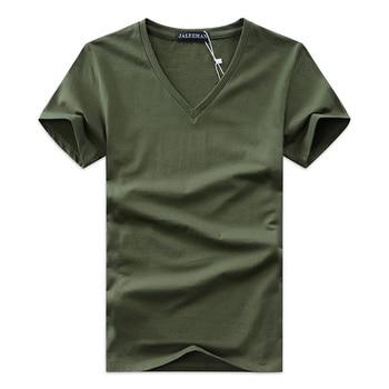 V neck cotton Slim Fit Classic Brand t shirts