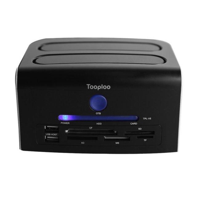 "Tooploo YOC 2.5 ""3.5"" SATA IDE eSATA USB 2.0 Жесткий Диск Док-Станция для HDD CF SD XD MS TF Card Reader США Plug"