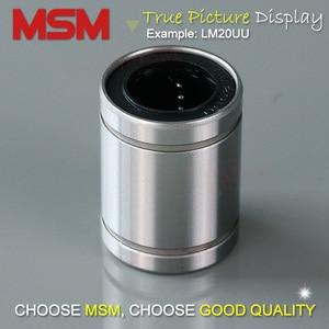 Image 5 - 10pcs MSM Linear Bearings LM4 LM5UU LM6UU LM8UU LM8SUU LM10UU LM12UU LM13UU LM16UU LM20UU LM25UU LM30UU Shaft Ball Bushings mm