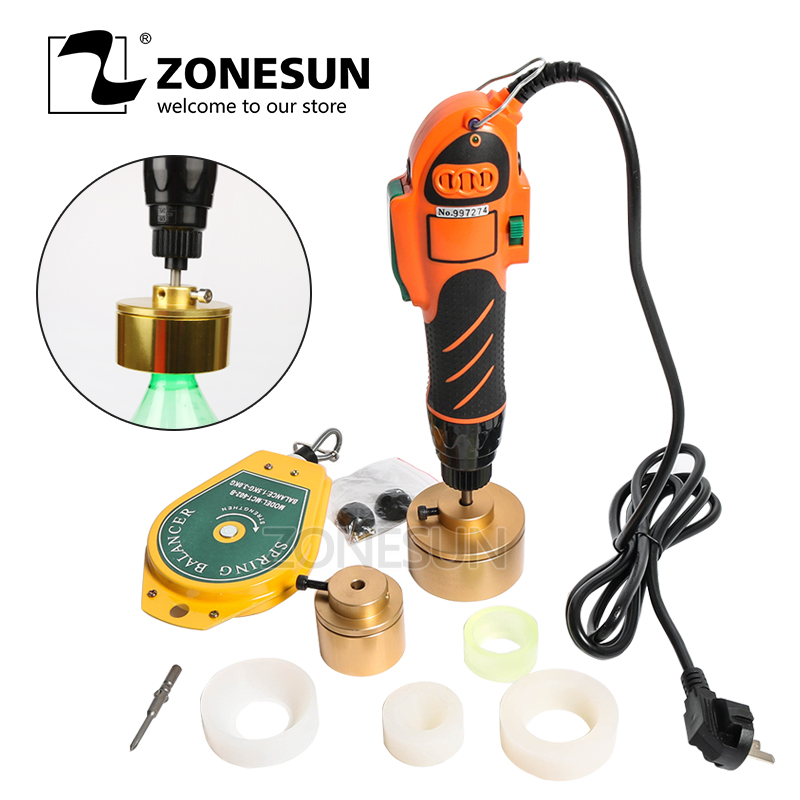 ZONESUN Plastic Bottle Capper Handheld Bottle Capping Tool Alcohol Hydrogen Peroxide Screw Capping Machine  Manual Capper