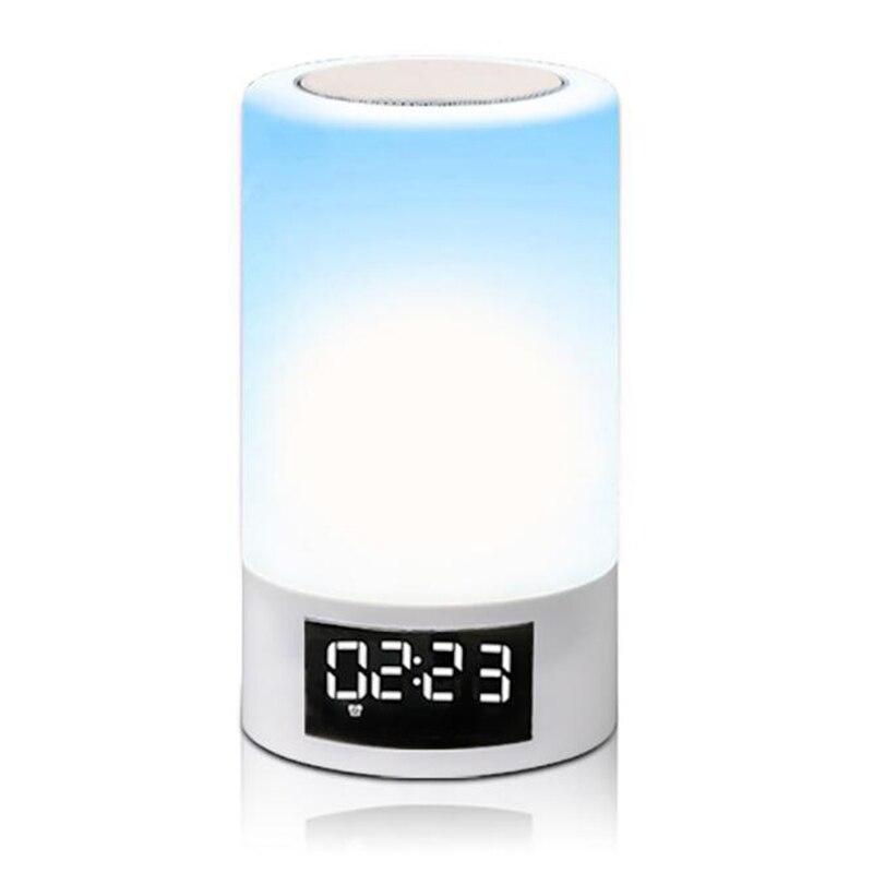 LED coloré veilleuse tactile Bluetooth Audio maison intelligente atmosphère émotionnelle lampe de haut parleur - 5