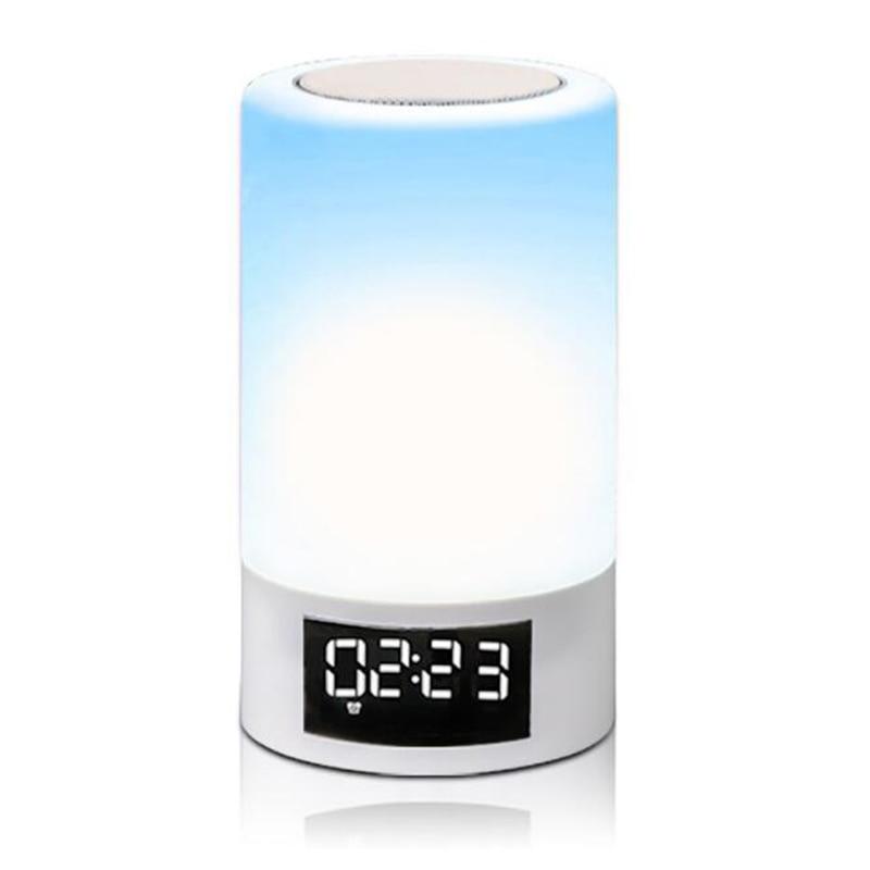 Led colorido luz da noite toque bluetooth de áudio casa inteligente lâmpada alto falante atmosfera emocional - 5