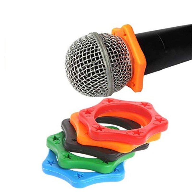 5Pcs Rubber Anti Slip Roller Ring Protection For Handheld Wireless Microphone Cute Mini Antislip Sleeve