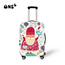 2015 Christmas Design Printed Luggage Covers Elastic Travel Suitcase Trolley Dustproof Protector Cover Apply to 22″-26″ Suitcase
