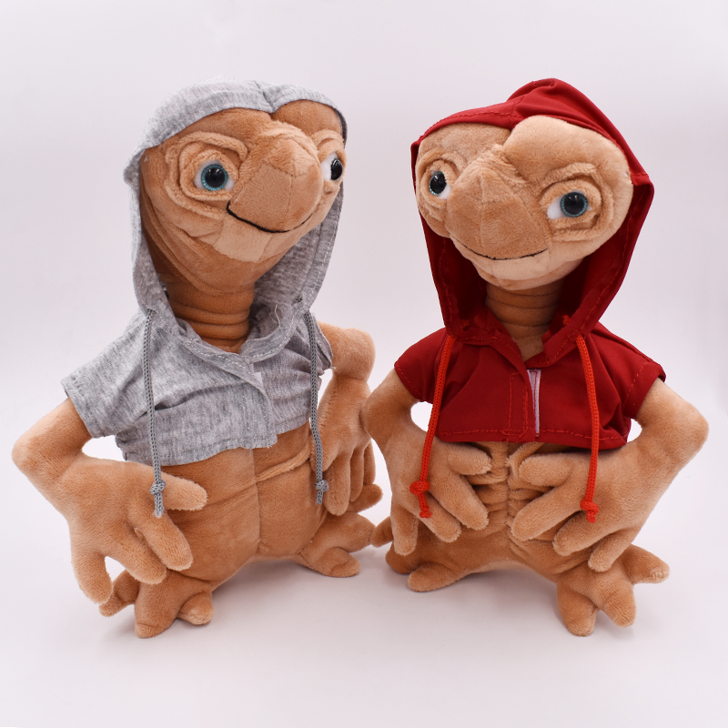 25CM E.T Alien Plush Doll Toy ET The Extra-Terrestrial Doll With Cloth High Quality Kids Christmas Gifts Free Shipping
