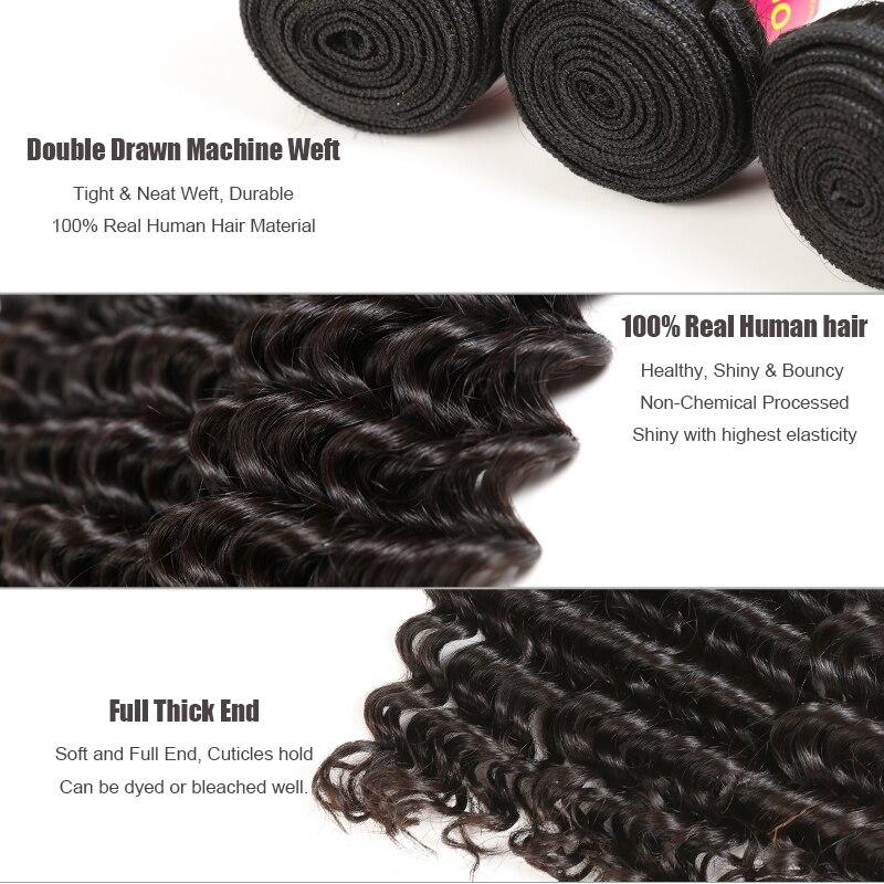 Ali Queen cheveux produits vierge cheveux malaisiens vague profonde en gros 10 pièces Lot cheveux humains faisceaux 10-26 pouces livraison gratuite - 5