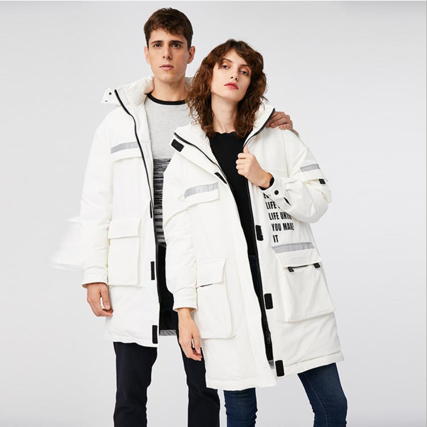 Plus size great quality hooded thicker warm   down     coats   Winter couple models long white duck   down   couple   coats   thick style wq2265