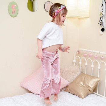 Sweet Ins Hot Sell Baby Kids Girls Boot Cute Velvet Leggings Pants Candy Pink Red Color Spring Autumn Fashion Children Clothing
