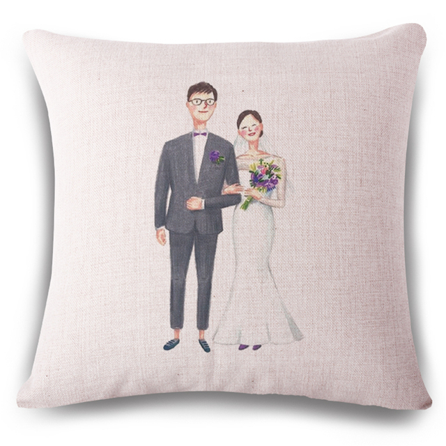 Harry Potter Wedding Decorative Pillow Covers For Couch Housse Amazing Hand Painted Decorative Pillows