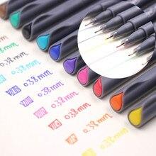Jonvon Satone 50pcs(5 הרבה) fineliner ציור עט קריקטורה עיצוב מים צבע עטי כתיבה ספר משרד עבור סיטונאי