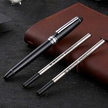 High end Hero 706 tükenmez kalem seti en iyi hediye yazma kırtasiye gümüş klip siyah iş ofis imza kalemleri 2 yedekler