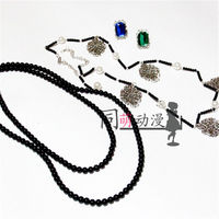 Black Butler Undertaker Cosplay Chain+Necklace+Ring Set Cosplay Accessorie Prop