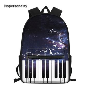 Cool Boy Backpacks | Nopersonality Cool Piano Pattern School Bag For Teen Girls And Boys Unique Preppy Children School Backpack Primary Kids Bookbags